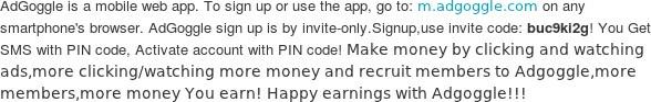 Make Money with Adgoggle!