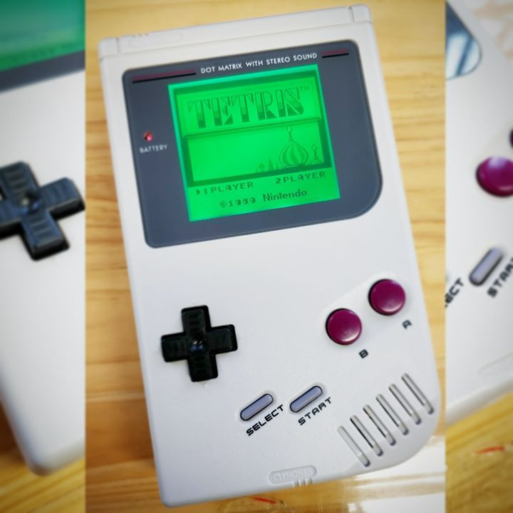 Original Dmg Style With Green Backlight Bivert Mod Light Grey Replacement Shell And Original Style Buttons The Colour Match Fo Gameboy Nintendo Retro Gaming