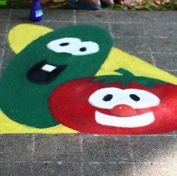 Make your own Veggie Tale party! Here you'll find Veggie Tales party ideas and cake ideas. Make a Veggie Tale background, paint poster boards...