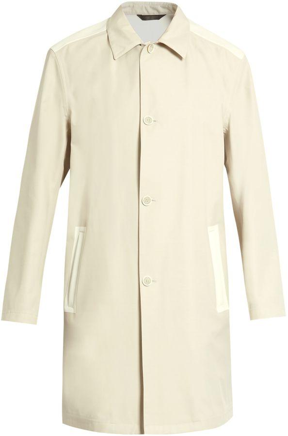 CALVIN KLEIN COLLECTION Bi-colour wool-blend coat