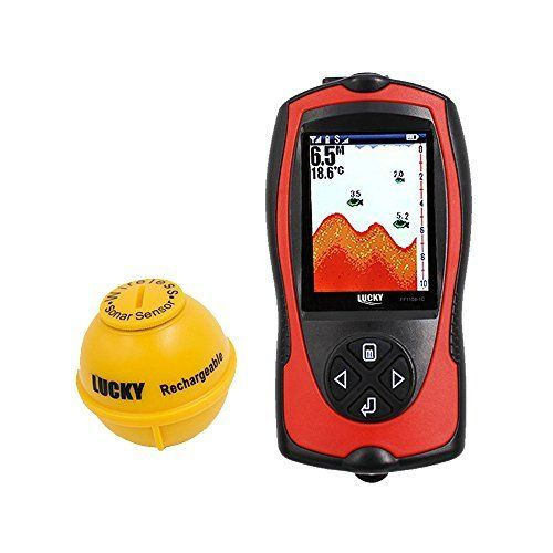 #marineelectronics Lucky Portable Fish Finder Sonar Sensor 147 Feet Water Depth Sounder LCD Screen Echo Sounder Fishfinder With Fish…