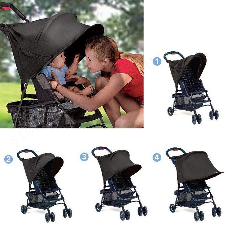 2016 New Sunshade Baby Stroller Awning Rag Shade Blocks 99% UV UVB Sun Rays Cover Umbrella Car Canopy Cover Stroller Accessories