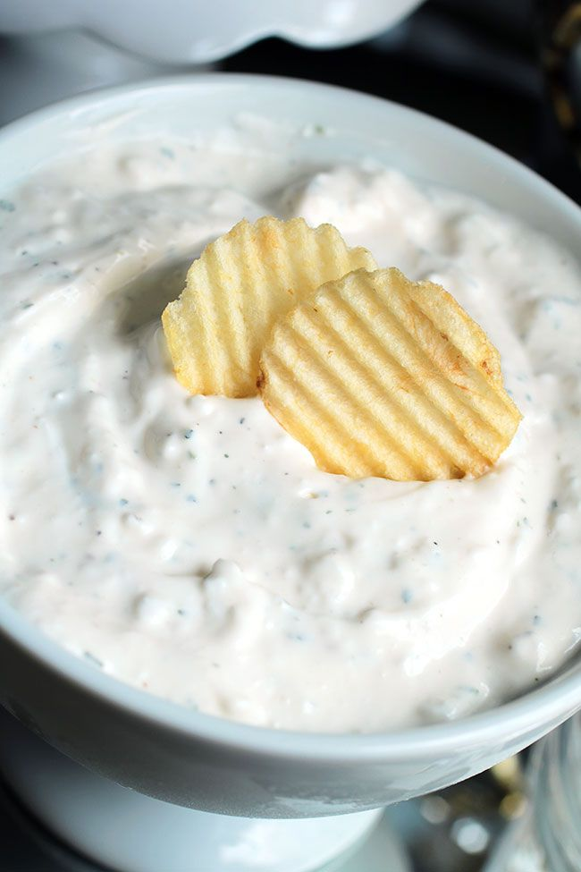 Delicious Ranch Dip with Secret Ingredient  Ingredients: 16 oz Hellman's Mayo 16 oz Small Curd Cottage Cheese (the secret ingredient!) 8 oz Sour Cream 1 packet Hidden Valley Ranch powder dressing 1 tablespoon Lemon Juice  Directions: Mix all ingredients together. Keep refrigerated.