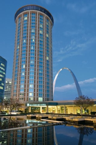 Love the revolving restaurant on top. Millenium Hotel, StL MO