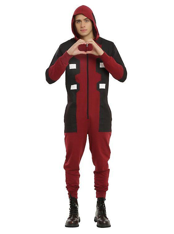 Marvel Deadpool One-Piece Union Suit Cosplay Pajamas,