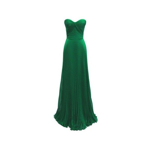 emerald green gown I am loving this color recently! ❤ liked on Polyvore featuring dresses, gowns, long dresses, vestidos, green, jane norman, emerald green evening dress, long green dress and emerald green ball gown