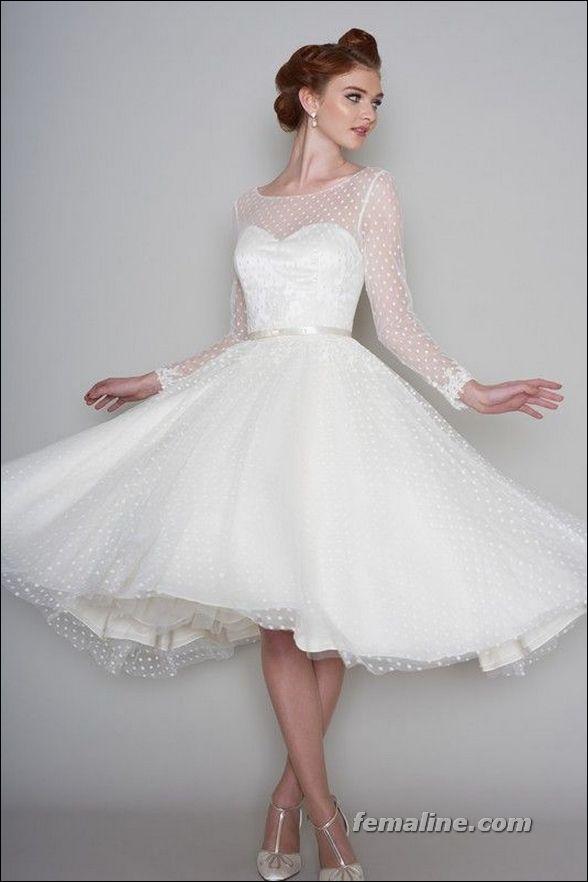 407 besten Bridal Gown--Tea Length Bilder auf Pinterest | Hochzeiten ...