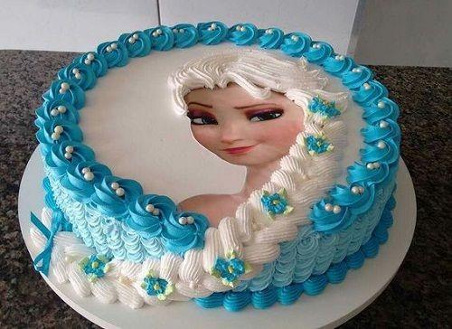 Frozen - Torta Elsa con Cabello Congelado.