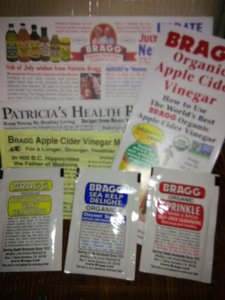 FREE SAMPLES from Bragg Braggs apple cider, Braggs apple
