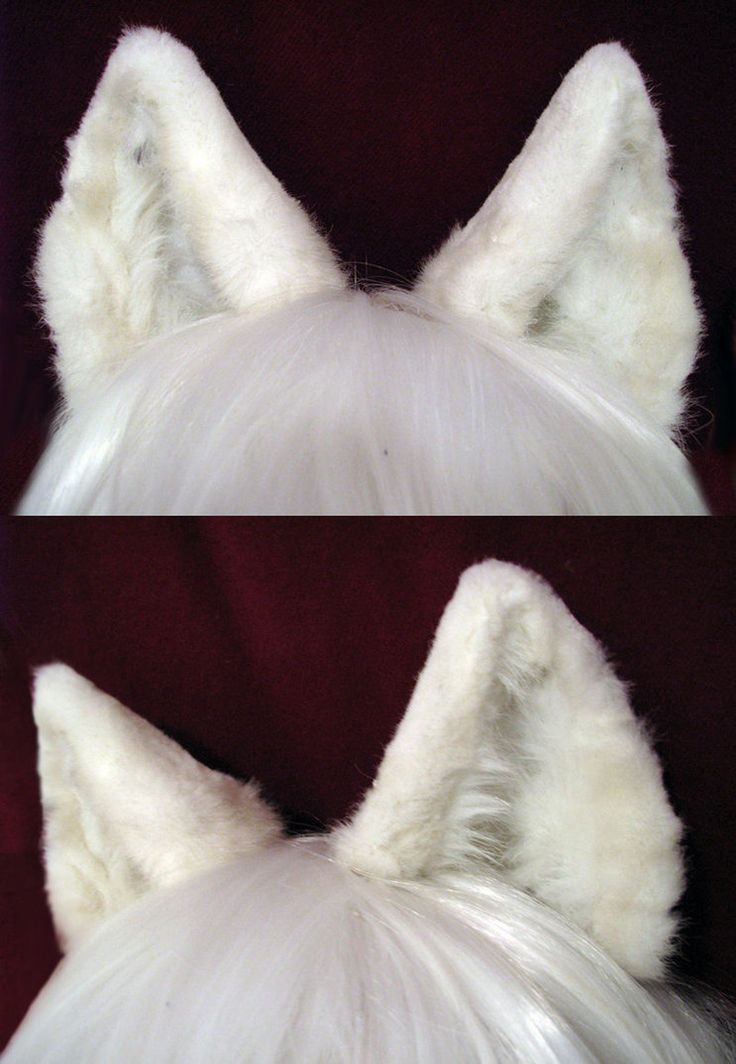 Yay! I've concocted one of my first pairs of realistic ears. What do you guys think? They're made of high-grade faux fur with a mesh infrastructure, and can be attached to a headband, or to elastic...