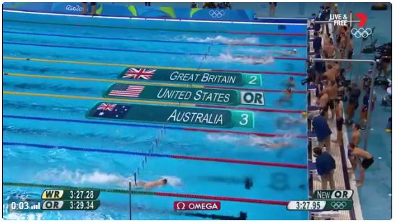 BRONZE MEDAL: Huge last leg from Kyle Chalmers in the men's 4x100m medley