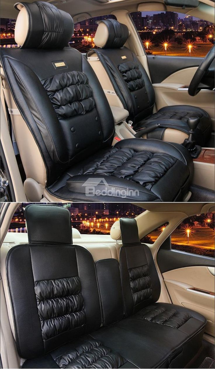Ostrich Skin Like and Down Feather Luxury Car Set Covers