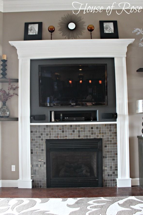 AMAZING! *why didn't I think of that*  This would allow me to have my mantle (for decorating) and hubs to have his tv. Marital bliss :D