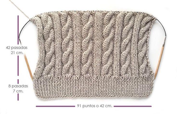 Gorro lana ochos pompom-6 Facilisimo. Muy bien explicado.