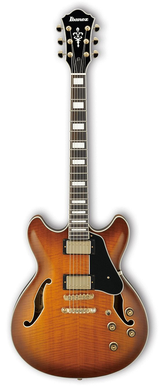 The AS is a semi-acoustic guitar built to tackle just about any genre of music you throw at it. The pickups are mounted into a sustain block for increased sustain and feedback elimination. 17th fret j