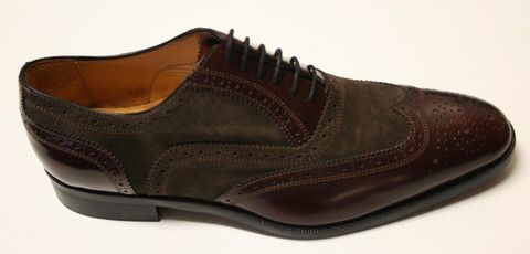 Mercanti Abrasivato Brogue Shoe Hand made in Italy
