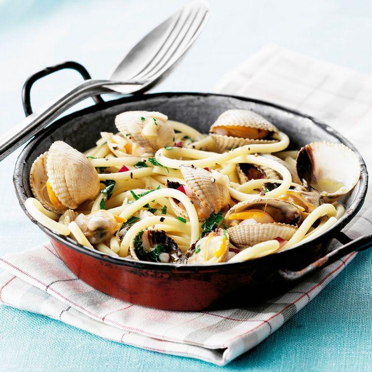 Découvrez la recette des spaghettis aux coques
