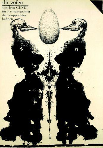 Franciszek Starowieyski - Les bonnes / The Maids  Affiche réalisée pour un théâtre allemand
