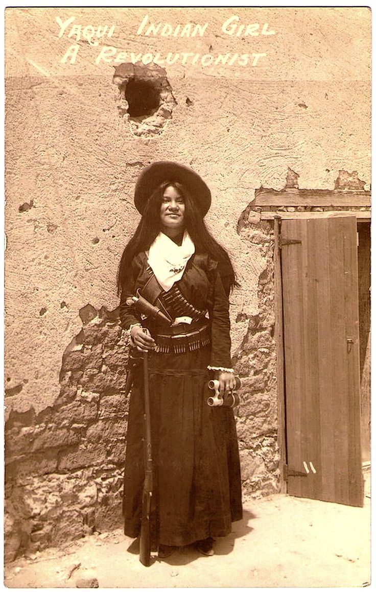 Yaqui Indian Girl, Early 1900S Hand Written On The Back -1517