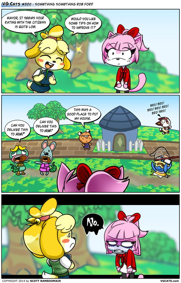VG Cats #320: Something Something Rob Ford - #AnimalCrossing