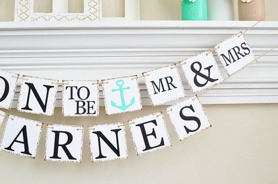 Nautical Engagement Banner Soon to Be Banner by ABannerAffair