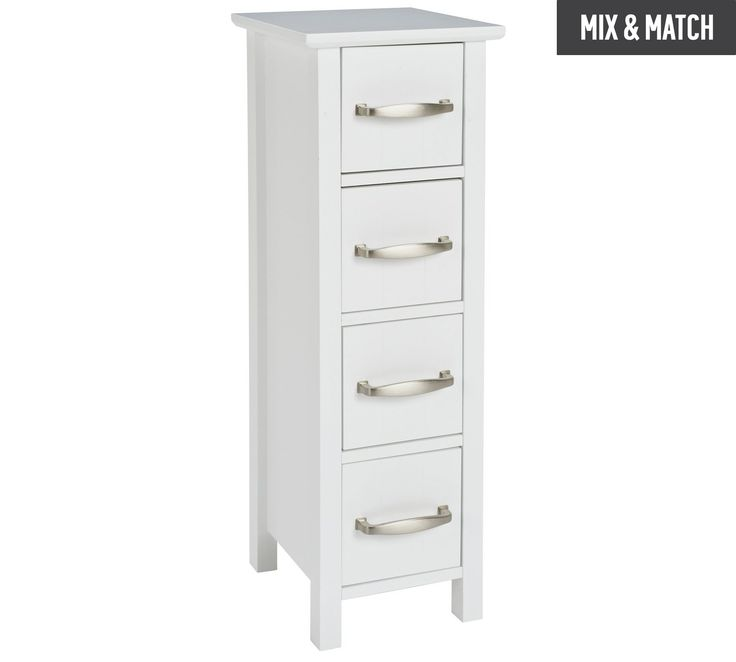 Buy Collection New Tongue and Groove 4 Drawer Unit - White at Argos.co.uk, visit Argos.co.uk to shop online for Bathroom shelves and storage units, Bathroom furniture, Home and garden