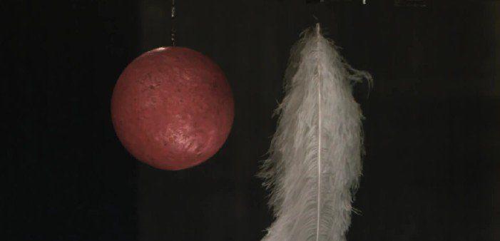 ¿Qué cae antes en el vacío, una pluma o una bola de bolos? Descúbrelo en este experimento realizado por la NASA - http://viral.red/experimento-vacio-nasa/