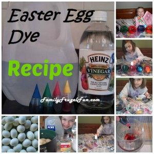 Make your own Easter Eggs Dye this year! No kits to buy - just get 2 simple ingredients to color eggs beautifully! It's fun and it's frugal too! Happy Easter!