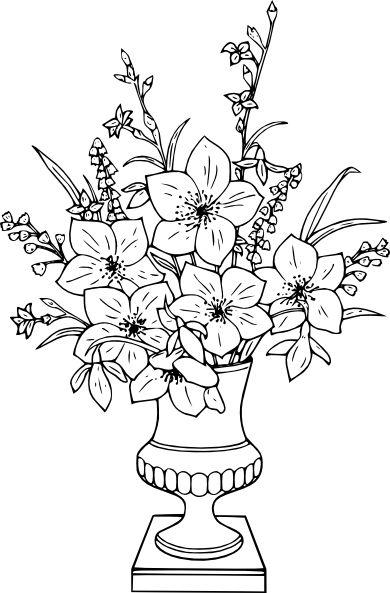Coloriage bouquet de lis