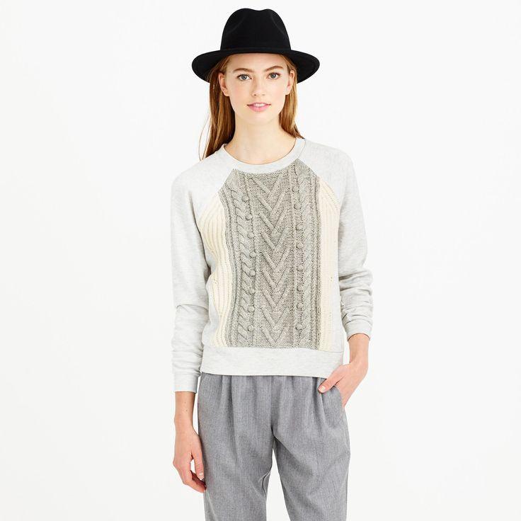 cable knit + pom poms = cozy time.