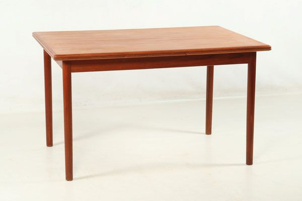 Danish Dining Table, In Teak, Partly Solid, Partially Veneered | vinterior.co