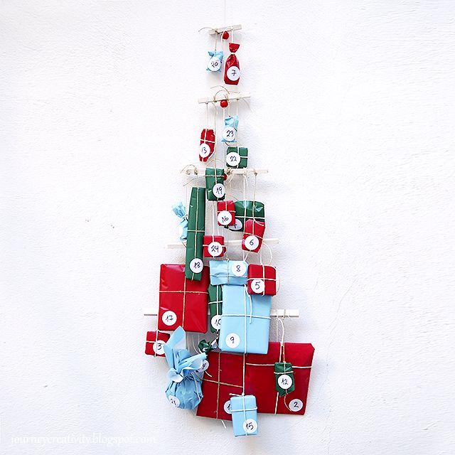 Journey into Creativity: Christmas tree advent calendar