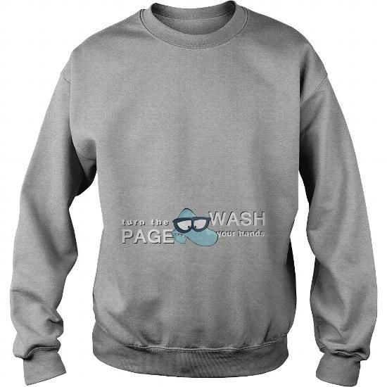 Awesome Tee Turn the Page, Wash Your Hands T shirts