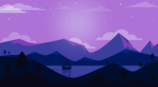 Minimal Ship Artwork Purple Background Wallpaper Hd Minimalist 4k Wallpapers Images Photos And Background Minimal Wallpaper Minimalist Desktop Wallpaper Desktop Wallpaper Art