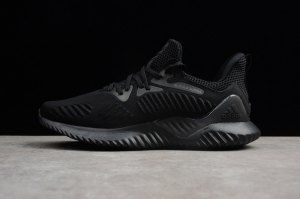 reputable site 68167 61a6f Mens Adidas Alphabounce Beyond Triple Black AC8271 Running Shoes