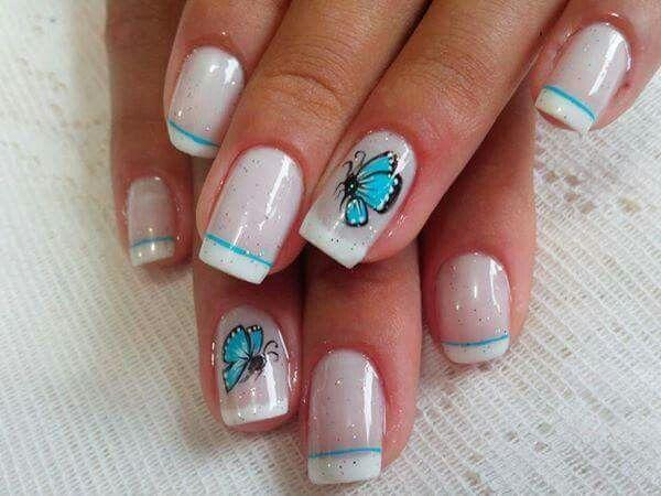 Borboletas. #Nails #unhas