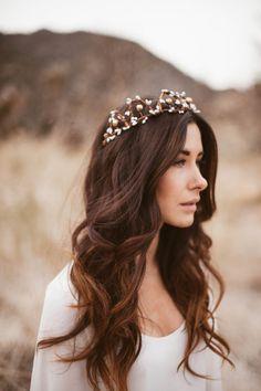 boho chic wavy hairstyles with tiara - Google Search - Wedding Hair - #Boho #Chic #wavy #Google #hair