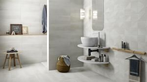 Eden: A simple but compelling #bathroom #pamesa #ceramica#pamesaceramica #tiles #floortiles#walltiles #flooring #decor #interiors#azulejos #pavimento #revestimiento#novedades #fliesen #carrelage#architecture #interiors #design #trends#arquitectura #baño #amarillo #design#bathroom
