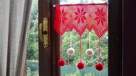 uncinettofra: Decori natalizi per finestra all'uncinetto