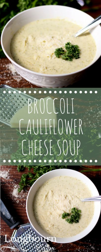 Broccoli cauliflower cheese soup is creamy, cheesy, and packed with cauliflower and broccoli! Ready in just 30 minutes, this soup will be an instant hit.