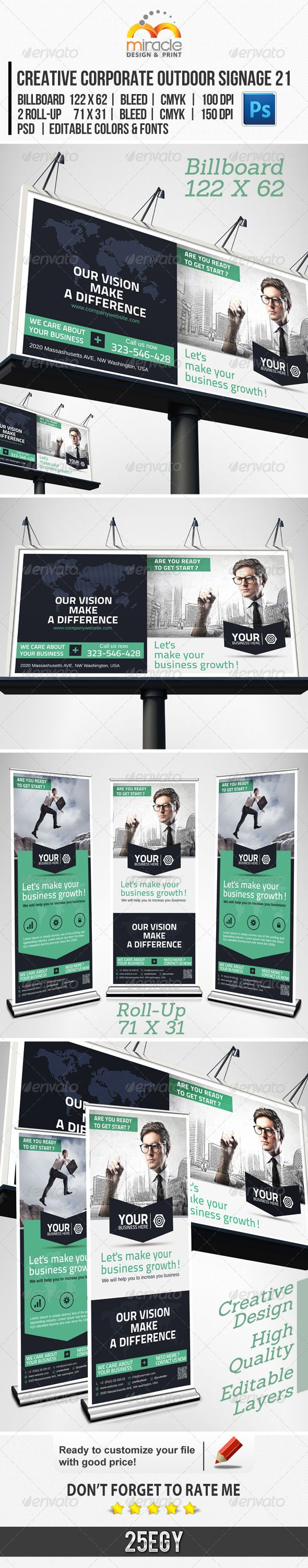 Creative Corporate Outdoor Signage 21 — Photoshop PSD #clean #conceptual • A...