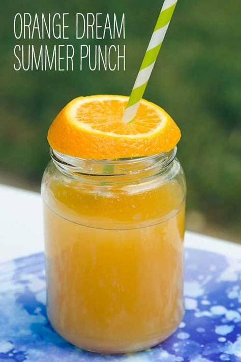 Recipe for Orange Dream Summer Punch - Everyone needs a great summer punch recipe, and this incredibly easy and yummy orange dream summer punch fits the bill perfectly. All you need are three ingrediants and you're on your way to thirst-quenching bliss.