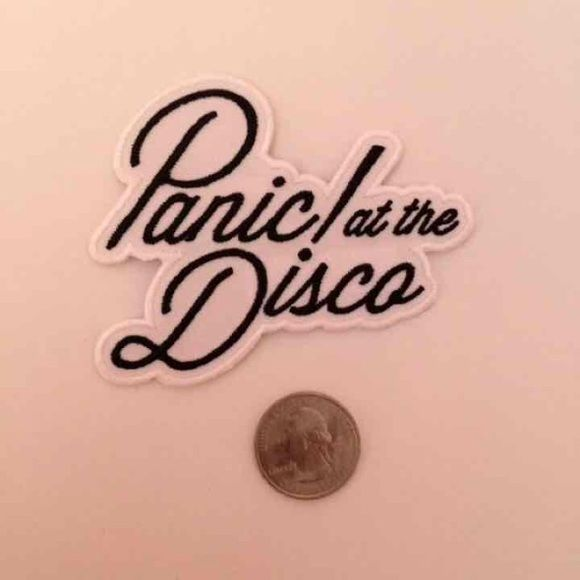 Panic At The Disco Iron On Patch Quarter For Reference. Cheaper On M.