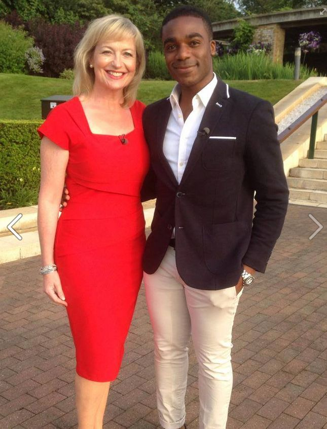#Ore with his #CHRONO CR3 and Carol, BBC Breakfast presenters waiting for the tennis to start at #Wimbledon in sunny #London