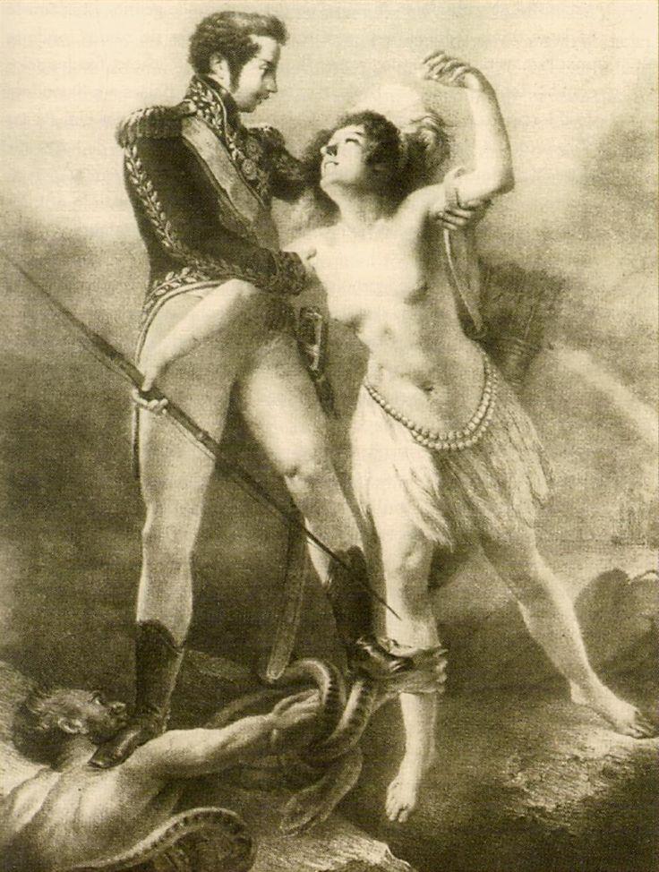 English: Alegoria ao juramento da Constituição brasileira de 1824.