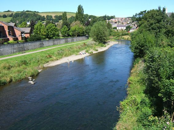 River Severn at Newtown, Wales