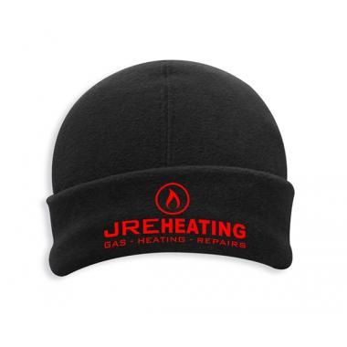 Promotional Beenie Hat-Polar Fleece Black Embroidered Beanie Hat, Colour Black :: Clothing and Textiles :: Promo-Brand Merchandise :: Promotional Branded Merchandise Promotional Products l Promotional Items l Corporate Branding l Promotional Branded Merchandise Promotional Branded Products London