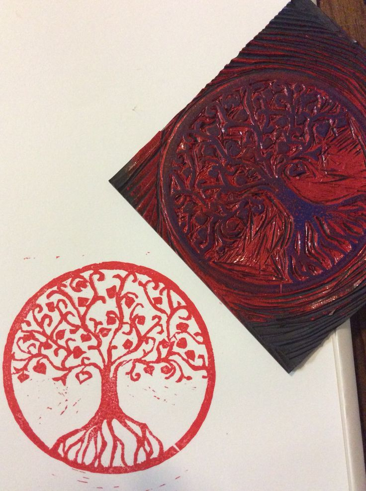 Tree of life Lino Print