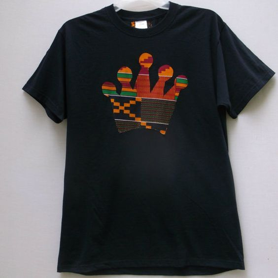 African Print T Shirt Kente Crown T Shirt Tribal Print By