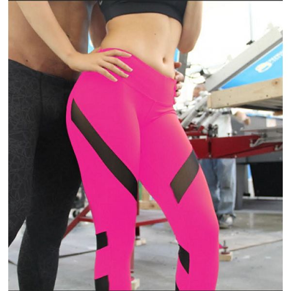 Pink Tech Mesh Special Edition Crop Pant